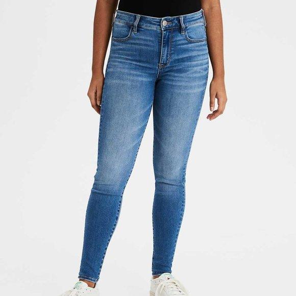 American Eagle Denim Jeans High Rise Jegging Jean